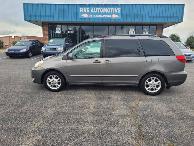 2005 Toyota Sienna for sale at Five Automotive in Louisburg NC