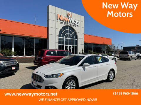 2013 Ford Fusion for sale at New Way Motors in Ferndale MI