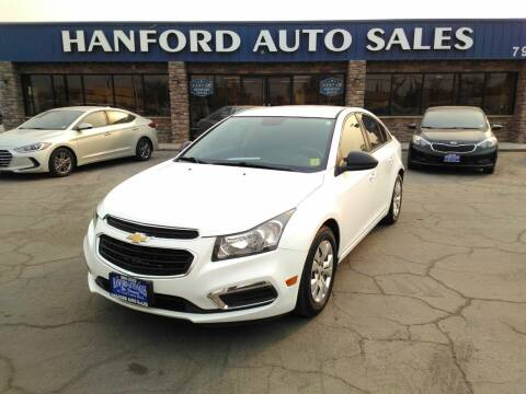 2015 Chevrolet Cruze for sale at Hanford Auto Sales in Hanford CA