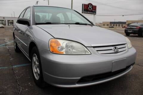 2001 Honda Civic for sale at B & B Car Co Inc. in Clinton Twp MI