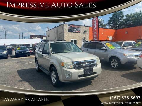 2008 Ford Escape for sale at Impressive Auto Sales in Philadelphia PA