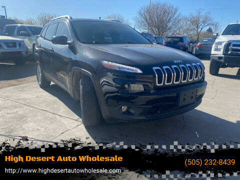 2018 Jeep Cherokee for sale at High Desert Auto Wholesale in Albuquerque NM