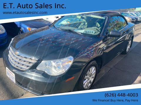 2010 Chrysler Sebring for sale at E.T. Auto Sales Inc. in El Monte CA