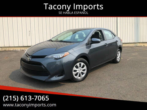 2017 Toyota Corolla for sale at Tacony Imports in Philadelphia PA