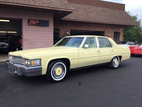 1978 Cadillac Fleetwood Brougham for sale at Pat's Auto Sales, Inc. in West Springfield MA