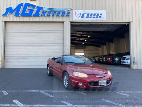 2002 Chrysler Sebring for sale at MGI Motors in Sacramento CA