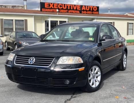 2004 Volkswagen Passat for sale at Executive Auto in Winchester VA