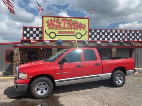 2005 Dodge Ram Pickup 1500 for sale at Watson Motors in Poteau OK