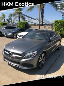 2017 Mercedes-Benz C-Class for sale at HKM Exotics in Corona CA