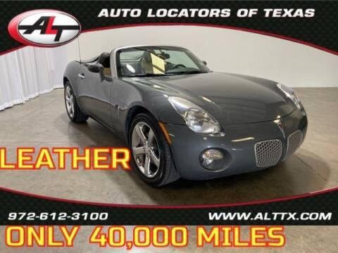 2008 Pontiac Solstice for sale at AUTO LOCATORS OF TEXAS in Plano TX