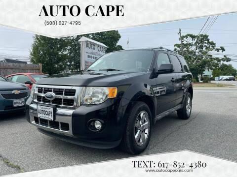 2009 Ford Escape for sale at Auto Cape in Hyannis MA