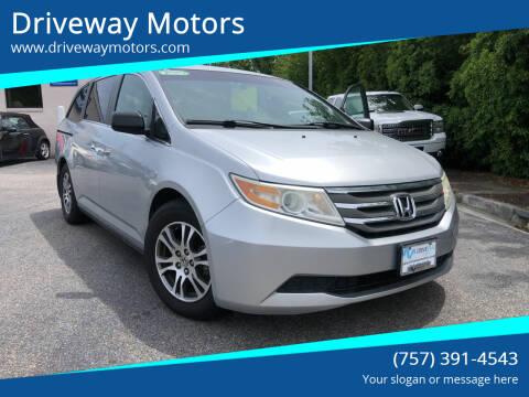2011 Honda Odyssey for sale at Driveway Motors in Virginia Beach VA