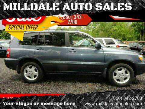 2005 Toyota Highlander for sale at MILLDALE AUTO SALES in Portland CT