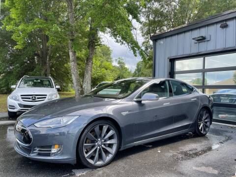 2014 Tesla Model S for sale at Luxury Auto Company in Cornelius NC