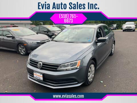 2016 Volkswagen Jetta for sale at Evia Auto Sales Inc. in Glens Falls NY