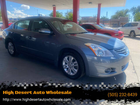 2011 Nissan Altima for sale at High Desert Auto Wholesale in Albuquerque NM