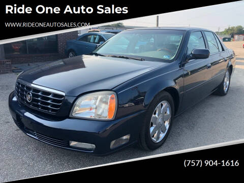 2005 Cadillac DeVille for sale at Ride One Auto Sales in Norfolk VA