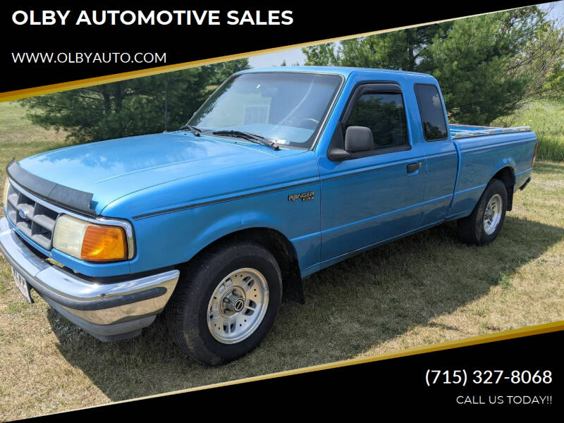 1994 Ford Ranger for sale at OLBY AUTOMOTIVE SALES in Frederic WI