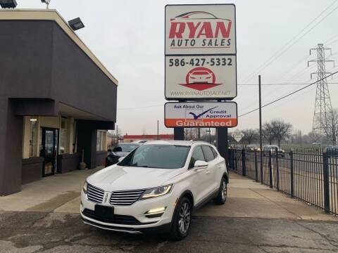 2015 Lincoln MKC for sale at Ryan Auto Sales in Warren MI