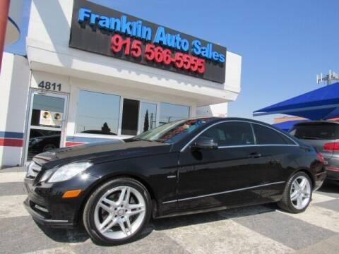 2012 Mercedes-Benz E-Class for sale at Franklin Auto Sales in El Paso TX