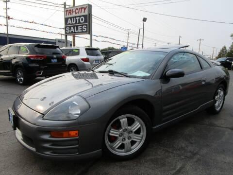 2002 Mitsubishi Eclipse for sale at TRI CITY AUTO SALES LLC in Menasha WI
