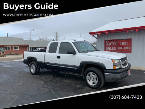 2004 Chevrolet Silverado 1500 for sale at Buyers Guide in Buffalo WY