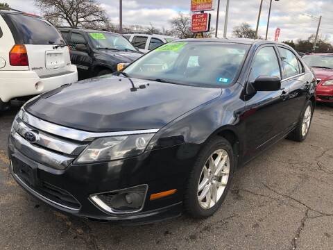 2012 Ford Fusion for sale at RJ AUTO SALES in Detroit MI