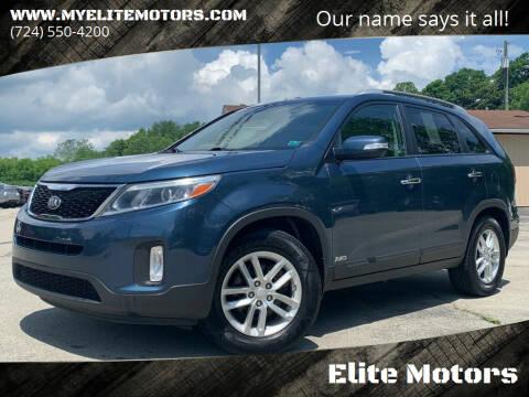 2014 Kia Sorento for sale at Elite Motors in Uniontown PA
