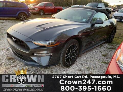 2019 Ford Mustang for sale at CROWN  DODGE CHRYSLER JEEP RAM FIAT in Pascagoula MS