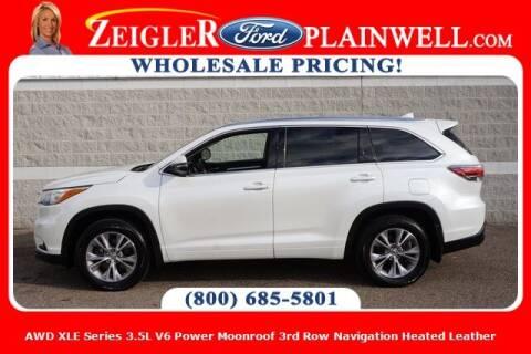 2015 Toyota Highlander for sale at Zeigler Ford of Plainwell- michael davis in Plainwell MI