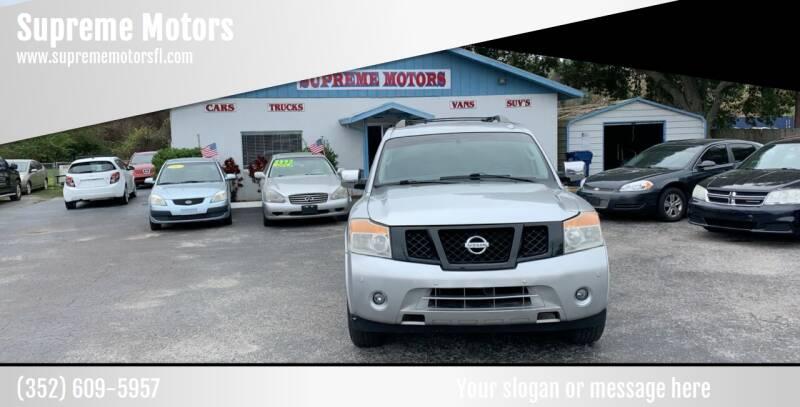 2008 Nissan Armada for sale at Supreme Motors in Tavares FL