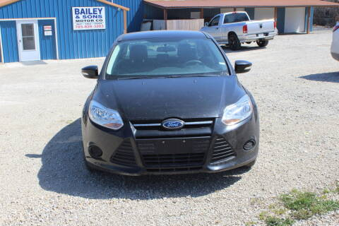 2013 Ford Focus for sale at Bailey & Sons Motor Co in Lyndon KS