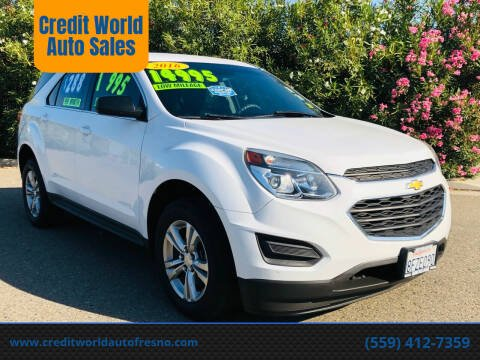 2016 Chevrolet Equinox for sale at Credit World Auto Sales in Fresno CA