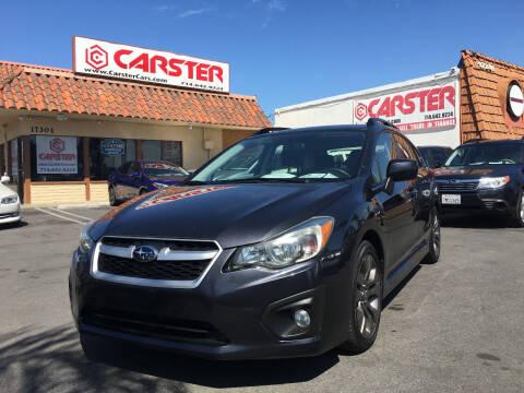 2012 Subaru Impreza for sale at CARSTER in Huntington Beach CA