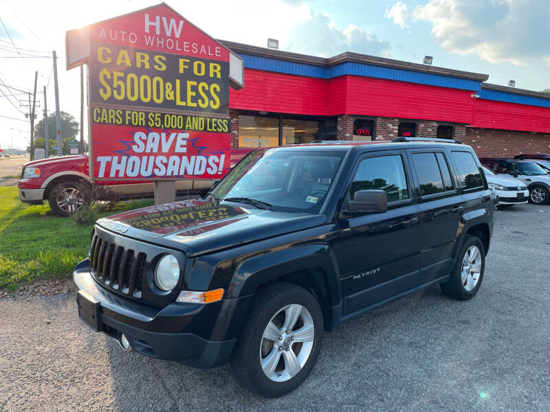 2012 Jeep Patriot for sale at HW Auto Wholesale in Norfolk VA