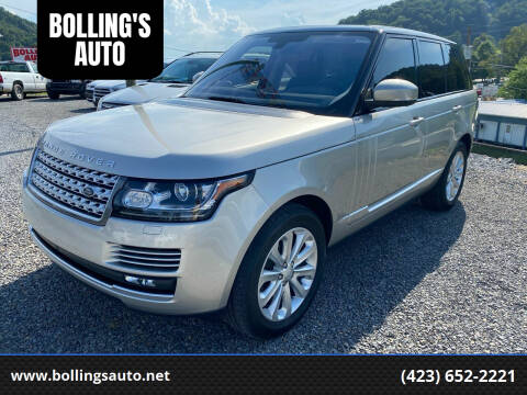 2016 Land Rover Range Rover for sale at BOLLING'S AUTO in Bristol TN