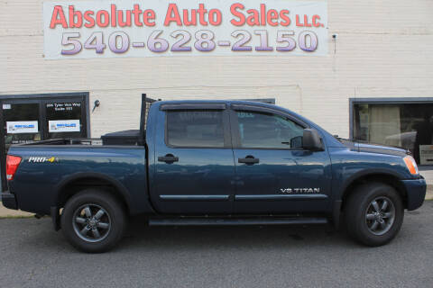 2014 Nissan Titan for sale at Absolute Auto Sales in Fredericksburg VA