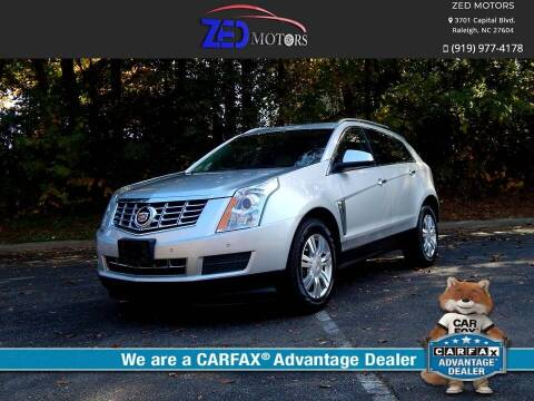 2014 Cadillac SRX for sale at Zed Motors in Raleigh NC