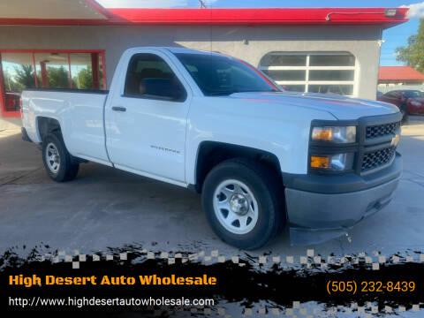 2014 Chevrolet Silverado 1500 for sale at High Desert Auto Wholesale in Albuquerque NM
