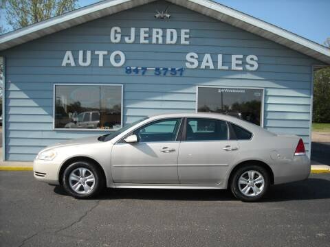 2012 Chevrolet Impala for sale at GJERDE AUTO SALES in Detroit Lakes MN