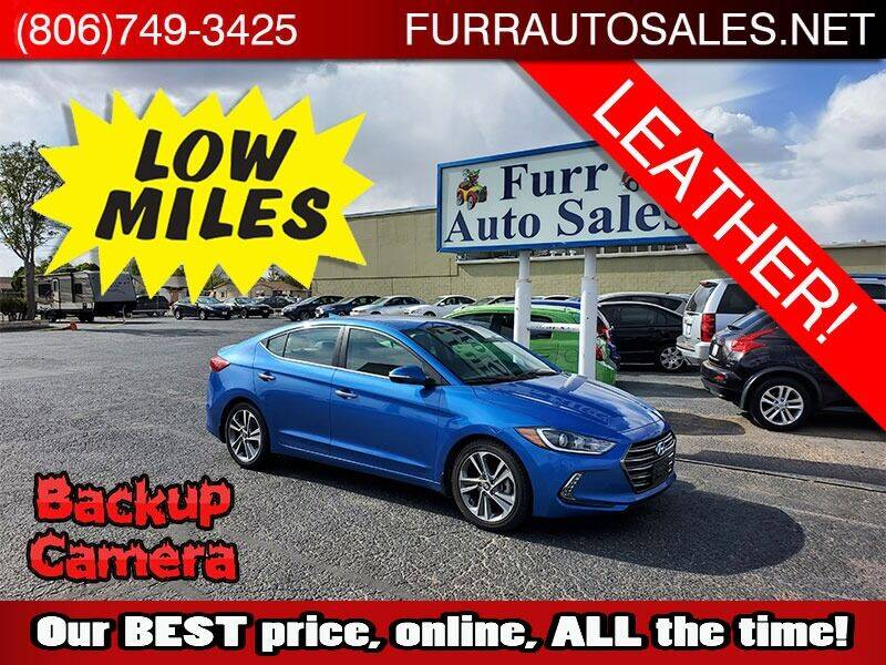 2017 Hyundai Elantra for sale at FURR AUTO SALES in Lubbock TX