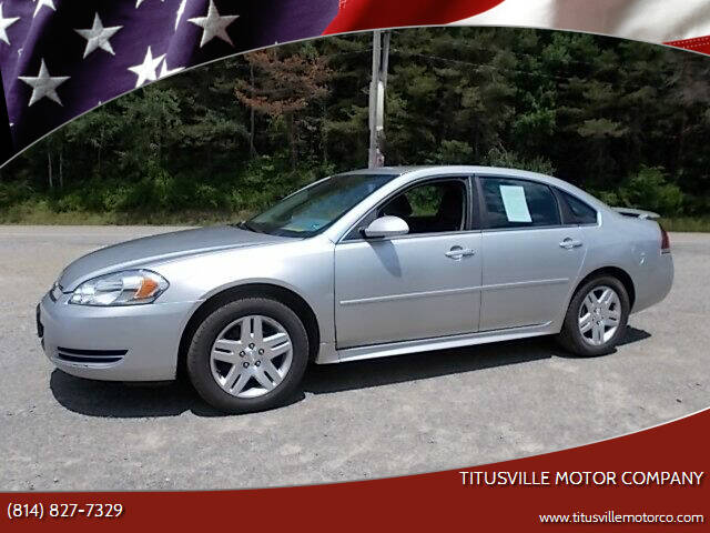 2012 Chevrolet Impala for sale at Titusville Motor Company in Titusville PA