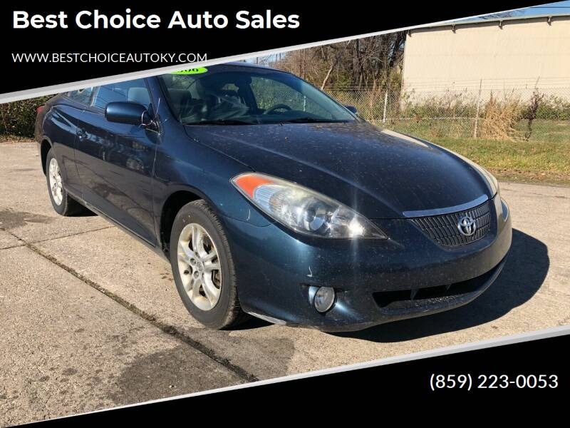 2006 Toyota Camry Solara for sale at Best Choice Auto Sales in Lexington KY