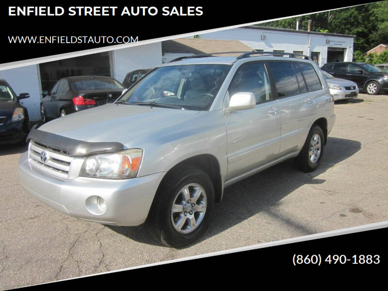 2004 Toyota Highlander for sale at ENFIELD STREET AUTO SALES in Enfield CT