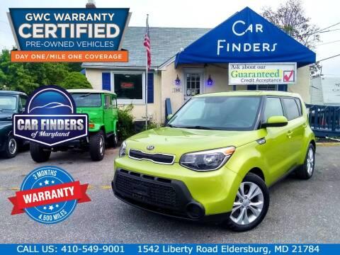 2015 Kia Soul for sale at CAR FINDERS OF MARYLAND LLC - Certified Cars in Eldersburg MD
