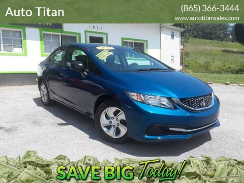 2014 Honda Civic for sale at Auto Titan in Knoxville TN
