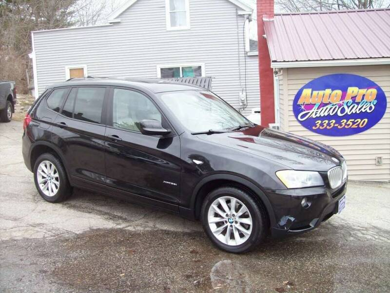 2013 BMW X3 for sale at Auto Pro Auto Sales-797 Sabattus St. in Lewiston ME