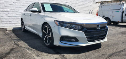 2018 Honda Accord for sale at ADVANTAGE AUTO SALES INC in Bell CA
