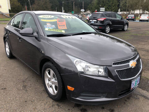 2014 Chevrolet Cruze for sale at Freeborn Motors in Lafayette, OR