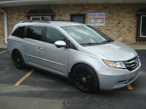 2015 Honda Odyssey for sale at Great Lakes Car Connection in Metamora MI